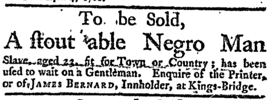 4/26/1762 New York Gazette