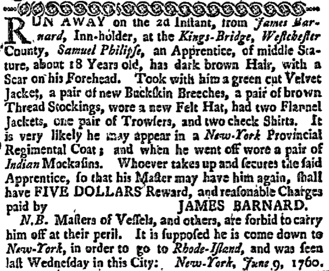 7/21/1760 New York Gazette