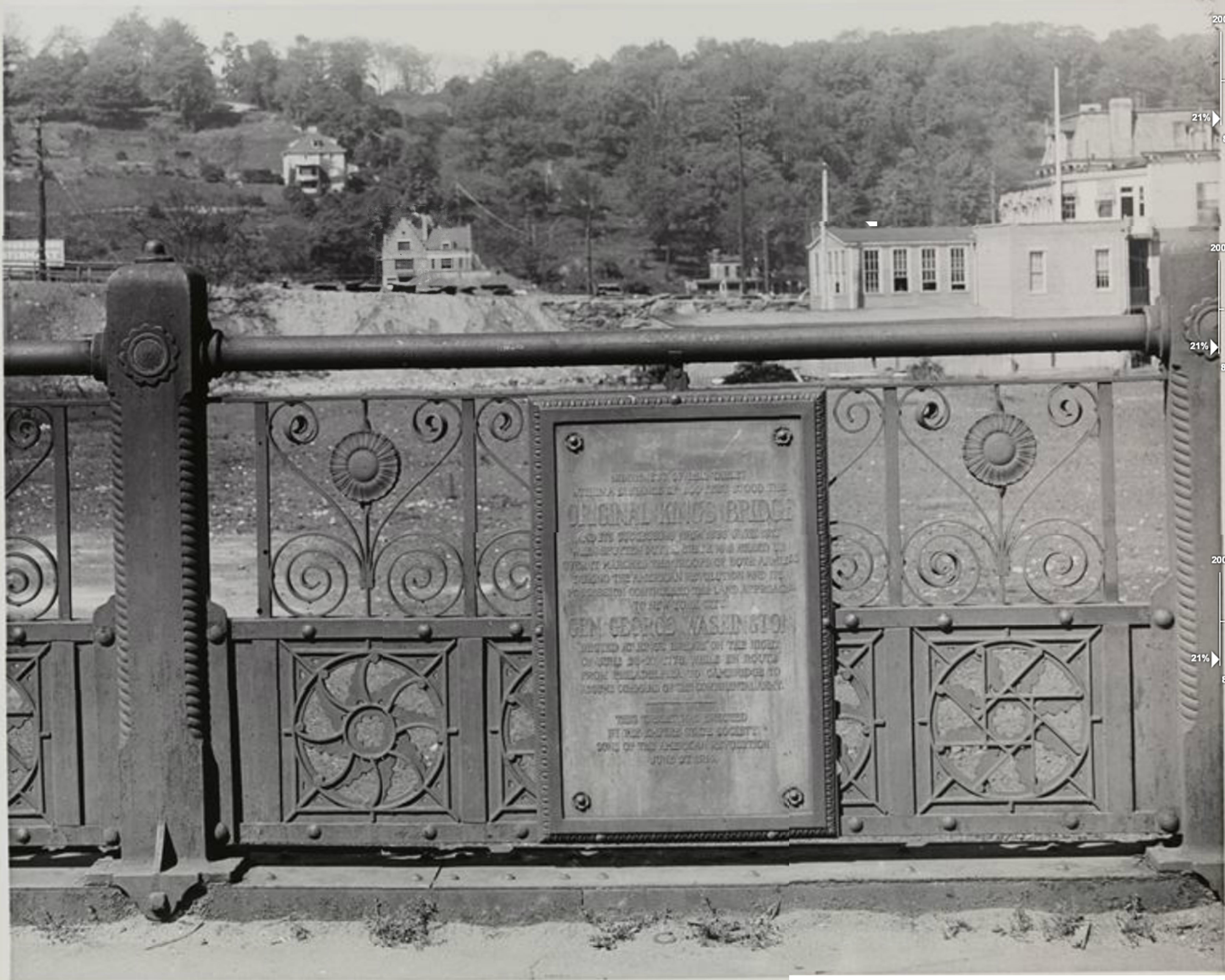 https://collections.mcny.org/Collection/[Plaque%20on%20iron%20railing%20marking%20site%20of%20original%20Kingsbridge]-2F3XC5893DG4.html