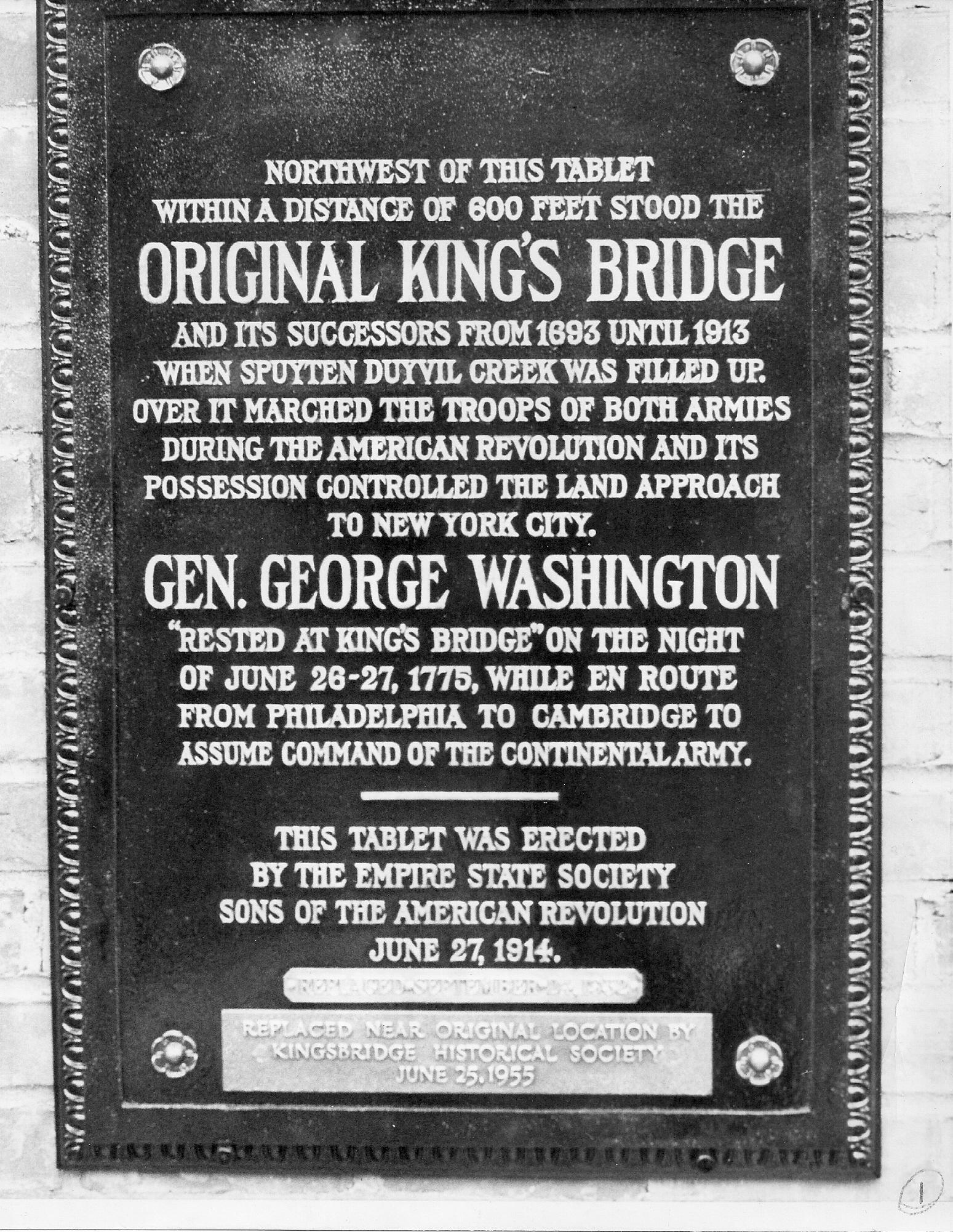 KB plaque rededicated 1955