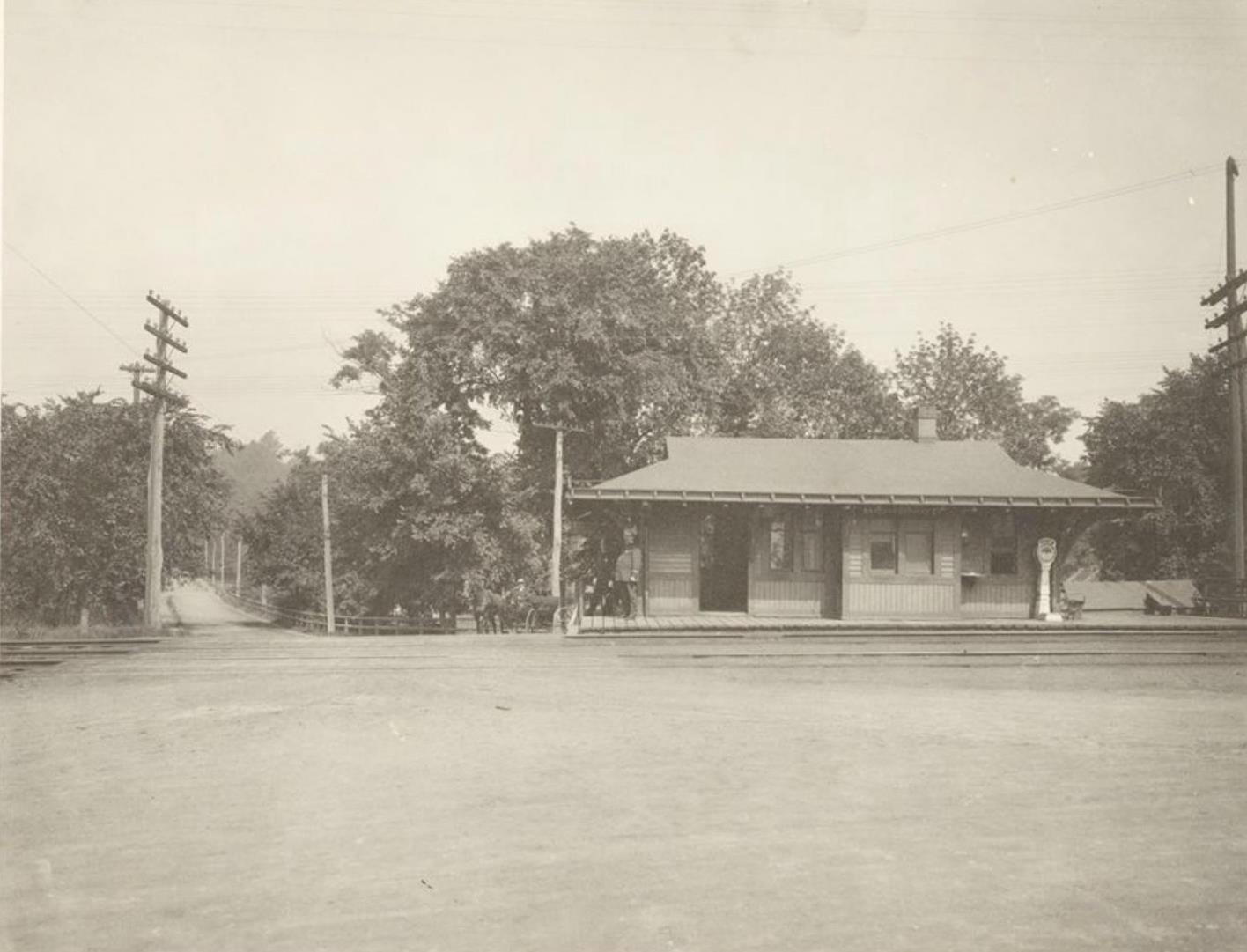 East Side of Present Railroad Station, Van Cortlandt Park [Parks of the Bronx, 1904.]