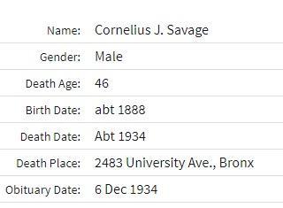cornelius j. savage
