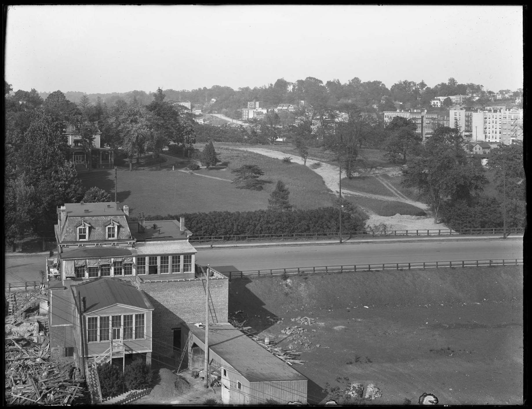 Part 2 of a panorama of Broadway, Kingsbridge Avenue, Bailey Avenue, and Crescent Road, Bronx, June 2, 1916. Photographed for Joseph P. Day.
