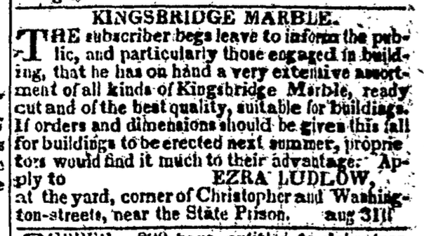"""Newspaper Clipping for Kingsbridge Marble referring to it as """"the best quality."""""""