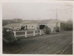 1948-CIRCA.   .photo.horse stable