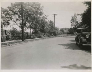 View looking north on Albany Crescent, May 31, 1950.
