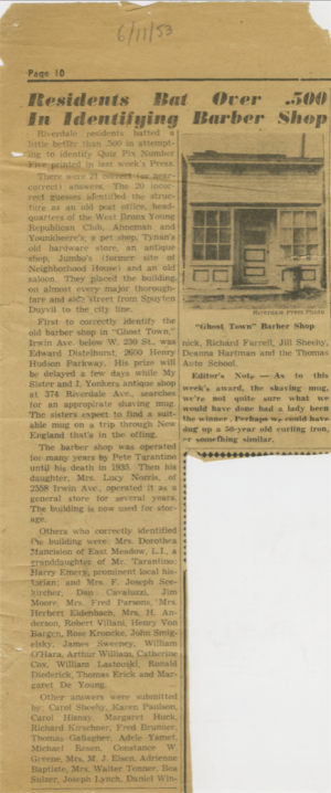Riverdale Press Clipping 6/11/1951