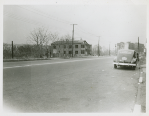 View looking north on Bailey Avenue, 1953.
