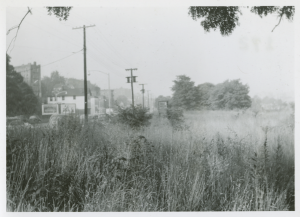 View looking south on Bailey Avenue, 1953.