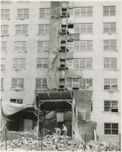 Construction of 555 Kappock St. on site of Puddlers Row, 1965.