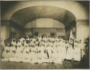 Group portrait (undated). Possibly Seton Hospital?