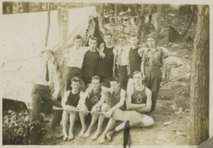 Young Riverdalians (undated). One is wearing Riverdale Athletic Club jersey.